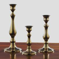 Concord Aged Brass Candle Holders (Set of 3)