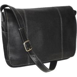 Royce Leather Vaquetta 13in Laptop Messenger Bag Black