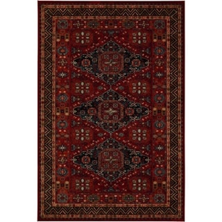 Power-Loomed Parish Rio Burgundy New Zealand Semi-Worsted Wool Rug (4'6 x 6'6) (As Is Item)