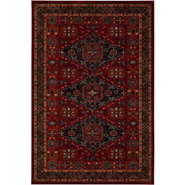 "Parish Rio Burgundy Wool Area Rug - 6'6"" x 9'10"""