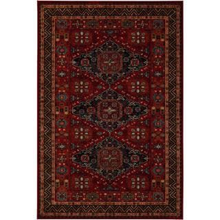 Power-Loomed Parish Rio Burgundy New Zealand Semi-Worsted Wool Rug (6'6 x 9'10)