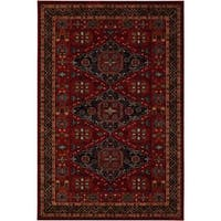 "Parish Rio Burgundy Wool Area Rug - 5'3"" x 7'6"""