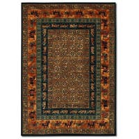 "Couristan Old World Classics Pazyrk/Burnished Rust Wool Area Rug - 4'6"" x 6'6"""