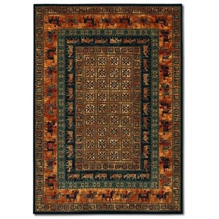Couristan Old World Classics Pazyrk/Burnished Rust Wool Area Rug - 5'3 x 7'6