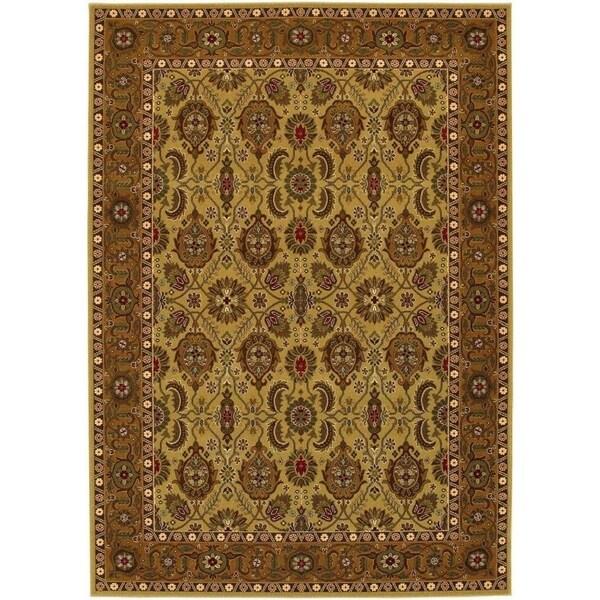 Couristan Royal Kashimar All Over Vase/Hazelnut Wool Area Rug - 5'3 x 7'6