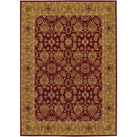 "Couristan Royal Kashimar All Over Vase/Persian Red Wool Area Rug - 5'3"" x 7'6"""