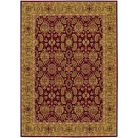 """Couristan Royal Kashimar All Over Vase/Persian Red Wool Area Rug - 5'3"""" x 7'6"""""""