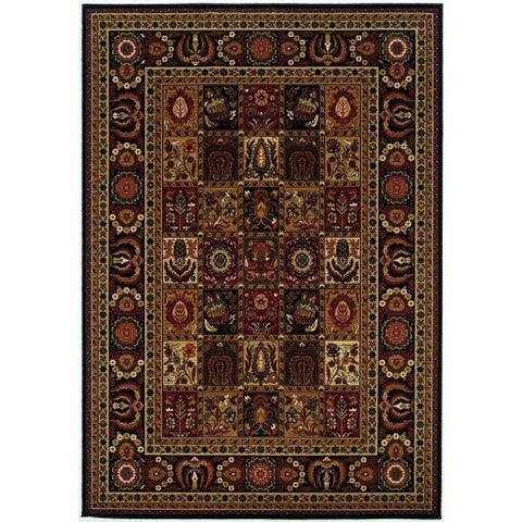 "Couristan Royal Kashimar Antique Nain/Black Wool Area Rug - 5'3"" x 7'6"""