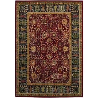 Bellagio Floral Traditions Persian Red Wool Area Rug - 6'6 x 9'10