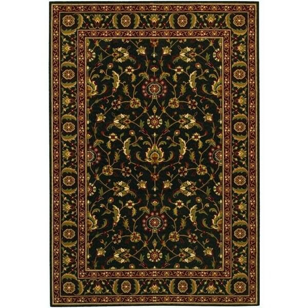 "Couristan Royal Luxury Brentwood/Ebony Wool Area Rug - 5'3"" x 7'6"""