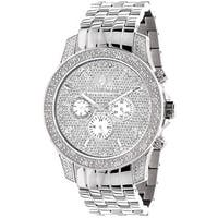 Luxurman Men's Stainless Steel Diamond Chronograph Watch