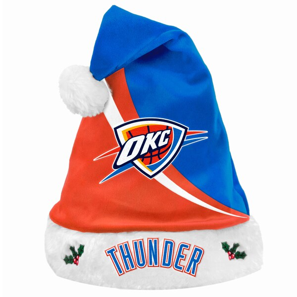 Forever Collectibles NBA Oklahoma City Thunder Polyester Swoop Santa Hat