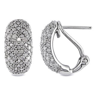 Miadora Sterling Silver 1ct TDW Diamond endless Earrings