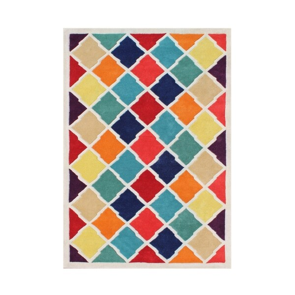 Alliyah Handmade Multi-Color New Zealand Blended Wool Rug (9 x 12) - 9' x 12'