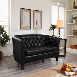 Porch & Den Silver Lake Allesandro Tufted Loveseat