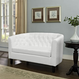Porch & Den Silver Lake Allesandro Tufted Two-seater Loveseat