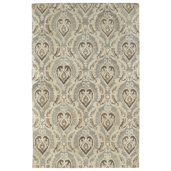 Damask Taupe Rug: Shop St. Joseph Taupe Damask Hand-Tufted Wool Rug (9'6 X