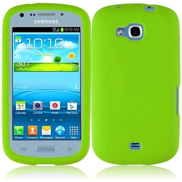 INSTEN Rubber Soft Silicone Skin Gel Phone Case Cover for Samsung Galaxy Axiom US Cellular Admire/ Vitality/ Admire 2