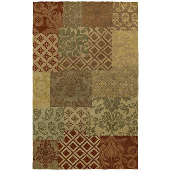 St. Joseph Multi Prints Hand Tufted Wool Rug - 9'6 x 13'