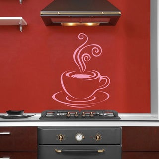 Steaming Cup of Coffee Vinyl Wall Decal