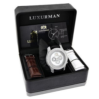 Luxurman Freeze 1/2ct TDW White Diamond Chronograph Watch