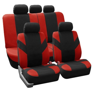 FH Group Red 'Road Master' Car Seat Covers (Full Set)
