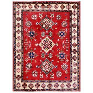 Herat Oriental Afghan Hand-knotted Kazak Wool Rug (5'10 x 7'11)