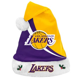 Forever Collectibles NBA Los Angeles Lakers Polyester Swoop Santa Hat