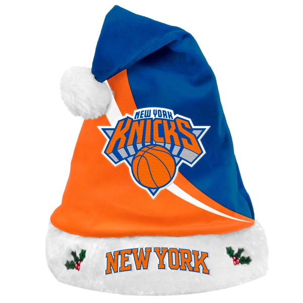 Forever Collectibles NBA New York Knicks Polyester Swoop Santa Hat