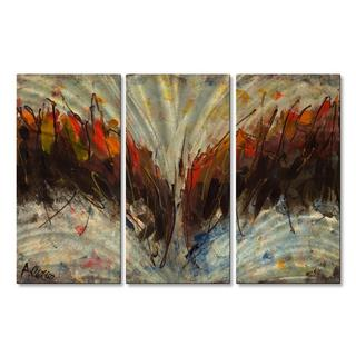 Alexis 'Seeing This Way' Abstract Metal Wall Art