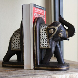 Handcrafted Elephant Bookend Pair (India) (2 options available)