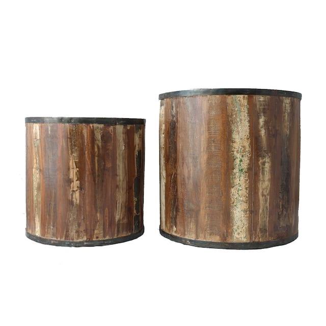 Reclaimed Wood Planter Box -Set of 2