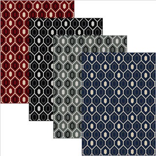 Admire Home Living 'Ashley' Contemporary Geometric Area Rug (3'3 x 4'11)