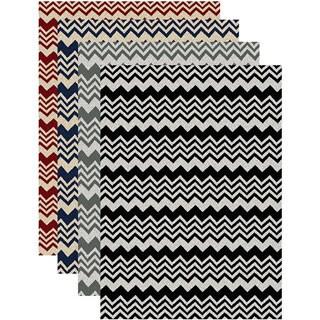 Admire Home Living 'Ashley' Chevron Contemporary Area Rug (5'5 x 7'7)