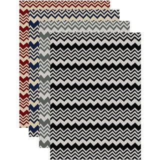 Admire Home Living 'Ashley' Contemporary Chevron Print Area Rug (7'9 x 11')