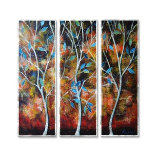 Peggy Davis 'Trees In The Breesze' Metal Wall Hanging