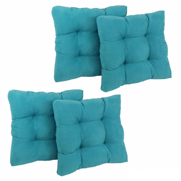 Blazing Needles 19-inch Square Microsuede Chair Cushion (Set of 4) - 19 x 19