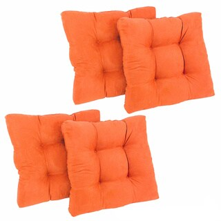 Blazing Needles Tropical 19-inch Square Tufted Microsuede Chair Cushions (Set of 4)