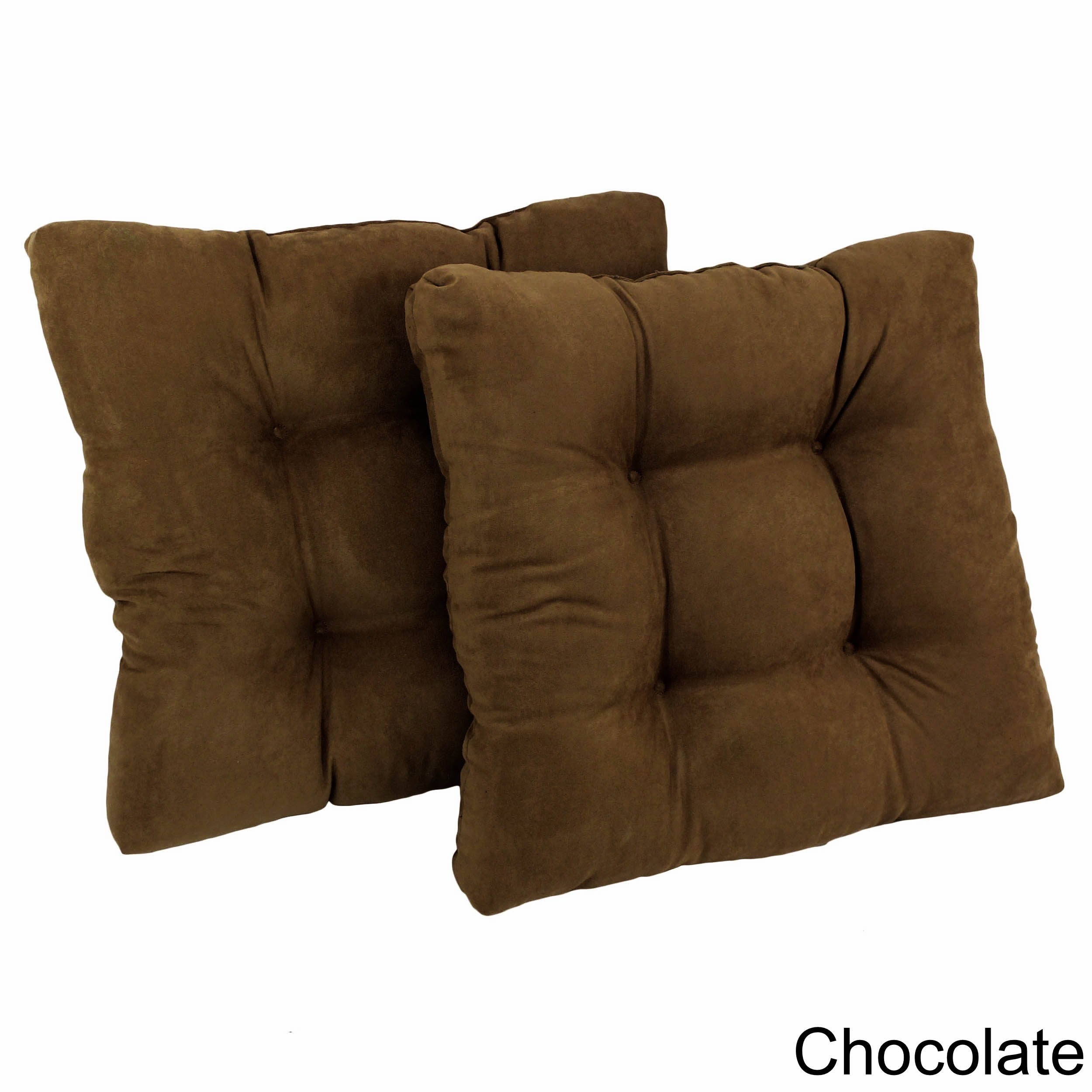 Charmant Blazing Needles Earthtone 19 Inch Square Tufted Microsuede Chair Cushions  (Set Of 2)