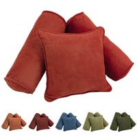 Blazing Needles Solid Microsuede Pillows (Set of 3)