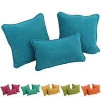 Blazing Needles Solid Microsuede Pillow Set (Set of 3)