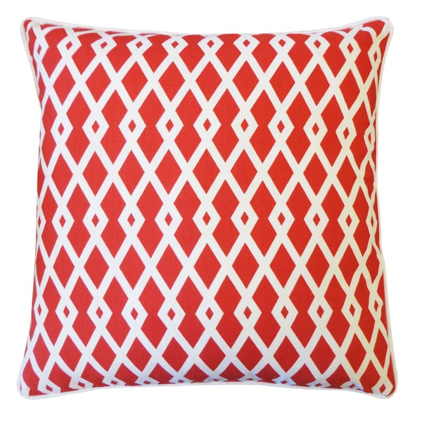 Red Moderna Throw Pillow