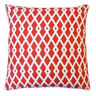 Red Moderna Throw Pillow