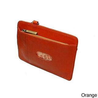 Castello Italian Leather Smart/ iPhone Wristlet (Option: Orange)