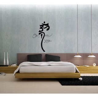 Om Diva Yoga Symbol Vinyl Wall Decal