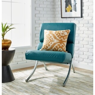 Rialto Teal Bonded Leather Upholstery Chair