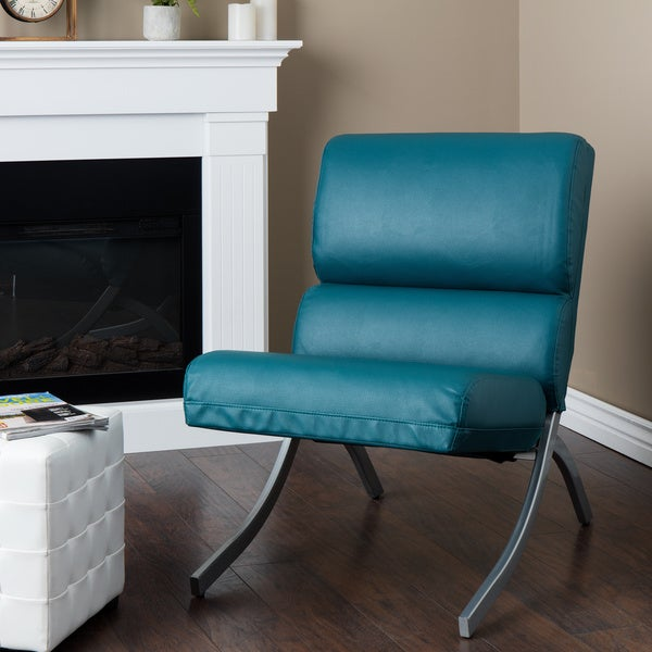 Rialto Teal Bonded Leather Upholstery Chair Free