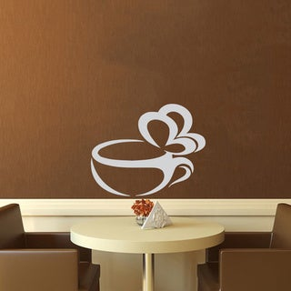 Steaming Butterfly Cup of Coffee Vinyl Wall Decal
