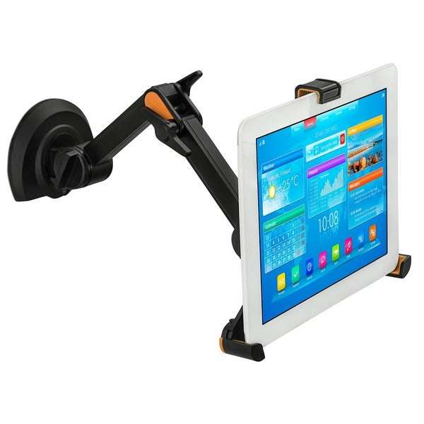 Mount It Universal Tablet Under Cabinet, Wall, And Desk Mount   Black