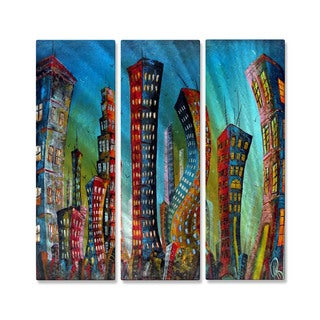 Marina Rehrmann 'New York City Jazz Night' Metal Wall Art